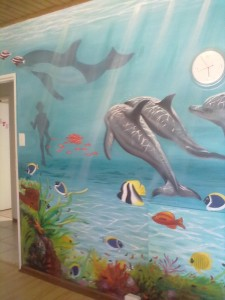 dolphin wall mural cape town 3