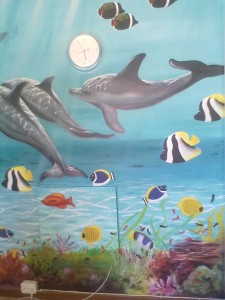 dolphin wall mural cape town 2