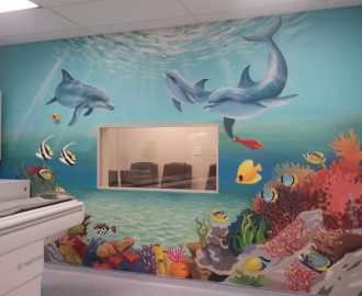 children's under sea mural