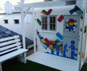 mural lego playhouse