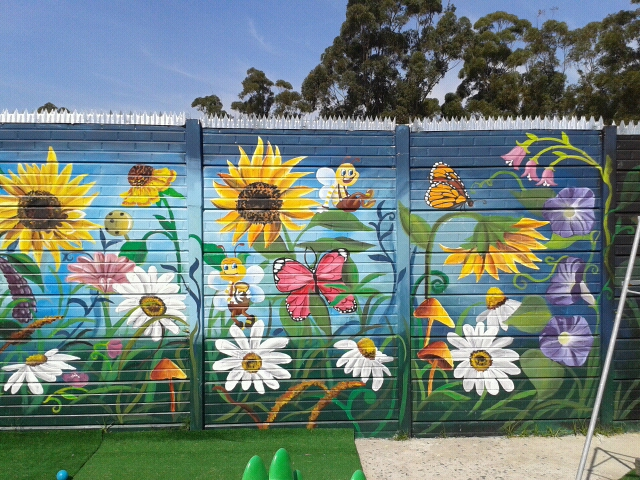 Wall murals-outside wall