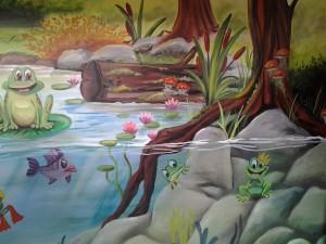 mural frog theme