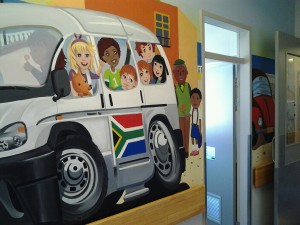 wall mural taxi
